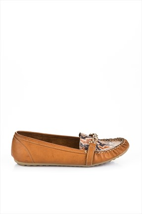 Fox Shoes,Fox Shoes Babet,Fox Shoes Bayan Taba Babet