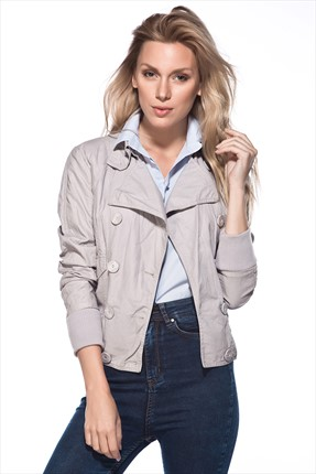 Cotton Mood Gri Trenchcoat CM4000-813