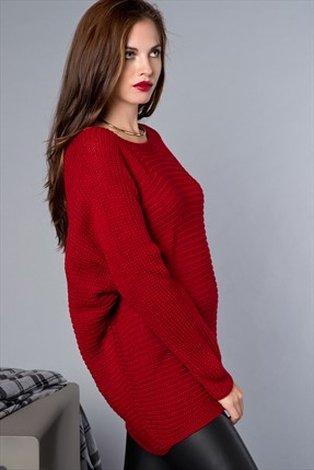 Cool & Sexy Bordo Tunik ESR122