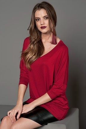 Cool & Sexy Bordo Tunik K50311
