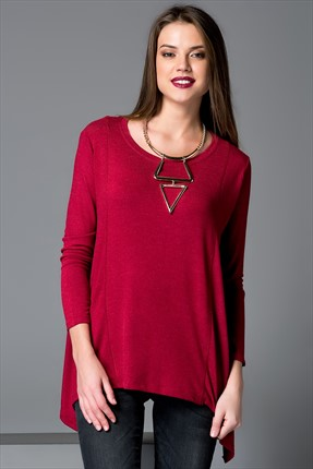 Cool & Sexy Bordo Tunik YA116