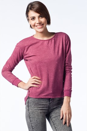 Olgun Orkun Bordo Sweatshirt O&O-5K148048