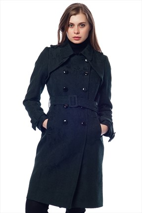 Ars,Ars Trenchcoat,Ars Yeşil Bayan Trenchcoat MGS-ECE4504