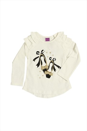 By Leyal For Kids,By Leyal For Kids T-shirt,By Leyal For Kids Krem Kız Çocuk T-Shirt 5056