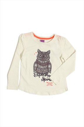 By Leyal For Kids,By Leyal For Kids T-shirt,By Leyal For Kids Krem Kız Çocuk T-Shirt 5059