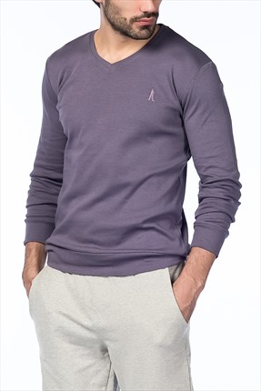 Superlife Mor Erkek Sweatshirt TH104
