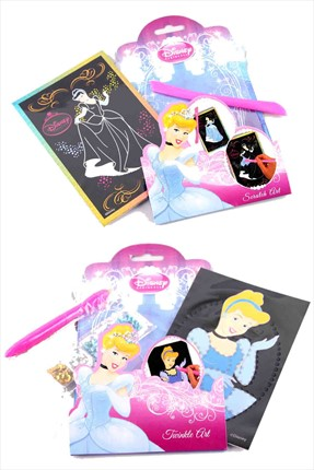 Toys Go Green,Toys Go Green Set,Toys Go Green 6'lı Disney Princess Scratch Art ve Twinkle Art Paketi QQDP10206-13