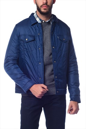 Levi's,Levi's Mont,Levi's Packable Trucker Jacket Estate Blue / Jackets Erkek Mont 13934-00