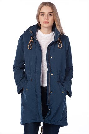 Levi's,Levi's Mont,Levi's Fishtail Parka Dress Blues X/Female/Jackets Bayan Mont 16044-00