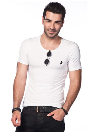 Sateen,Sateen T-shirt,Sateen Beyaz T-Shirt