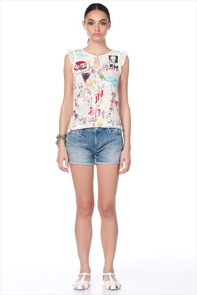 Industrie Denim,Industrie Denim Şort,Industrie Denim Paper Denim & Cloth Bayan Sort - PW-H1287A CL W DNM SHORTS SHORT 141W10PDC0100001