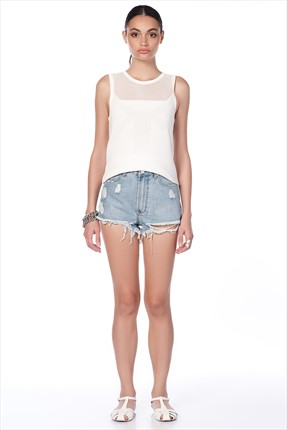Industrie Denim,Industrie Denim Şort,Industrie Denim Unif Clothing Bayan Sort - UWSH -1462 CL W DNM SHORTS OTHER 141W20UCG0100001