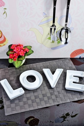 Kitchen World,Kitchen World Servis,Kitchen World Seramik Love Harfleri Çerez