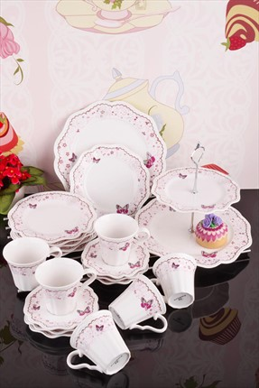 Kitchen World,Kitchen World Servis,Kitchen World 20 Parça Bone China Kelebek