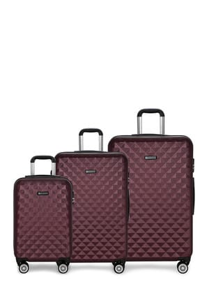 Bordo Unisex Valiz DIAMOND