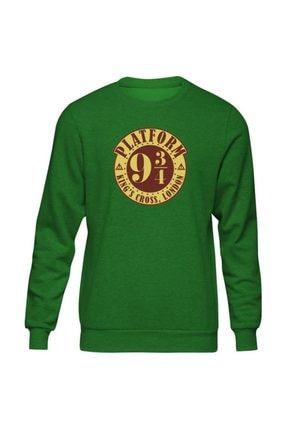 Harry Potter Platform 9 3/4 Yeşil Sweatshirt ST153HP1351