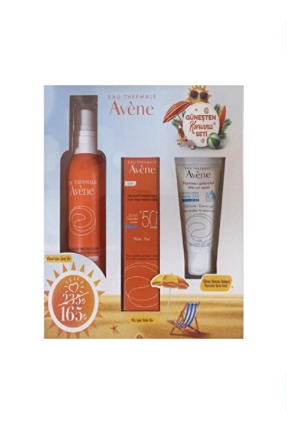 Güneş Koruma Seti Emulsion SPF50 50 ml Spray SPF50 200 ml After Sun 50 ml 3282770114799