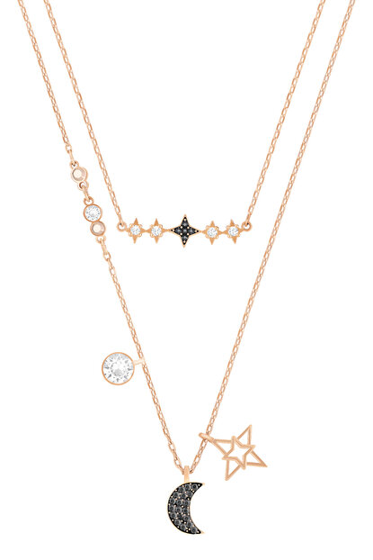 Kadın Kolye Duo Necklace Moon Set Mıx 5273290