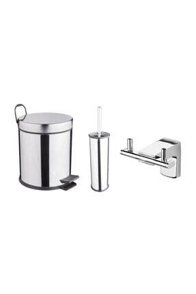 Banyo Tuvalet Seti (çöp Kovası-fırça-askılık) HBV00000S6YWQ