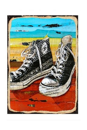 Converse Ayakkabılar Modern Mdf Tablo 25x35 cm dikey-14020-25-35