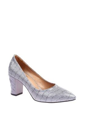 Bebe Mavi Croco Kadın Topuklu Ayakkabı 1101-1609