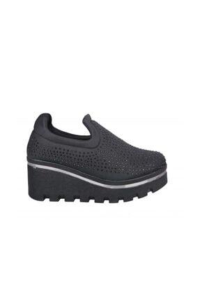 Dolgu Topuk Siyah Kadın Sneakers Crs08 crs08 Dolgu Topuk