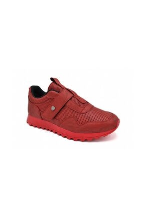 Kırmızı Renk Kırmızı Taban Spor Sneaker Erkek Ayakkabı 122 122 LAPOLO