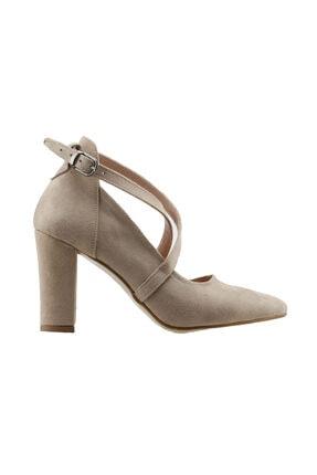 137029-1122 9 cm Topuk  Süet Sandalet Ayakkabı 19YAYAYK0000047YKP