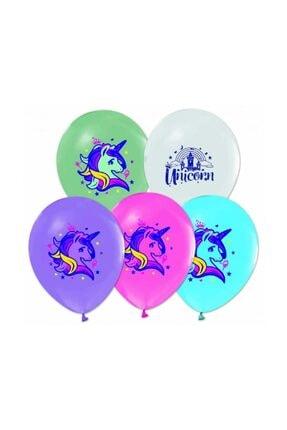 Unicorn Baskılı Lateks Balon Renkli 30cm (12inch) 10lu 8681483663412