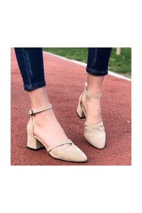 Kadın Topuklu Ayakkabı Süet Bej 232018BEJ