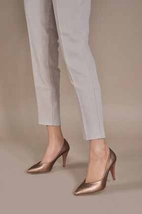 Kadın  Bronz-Cilt Klasik Topuklu Ayakkabı VZN20-003Y 153203_Bronz-Cilt