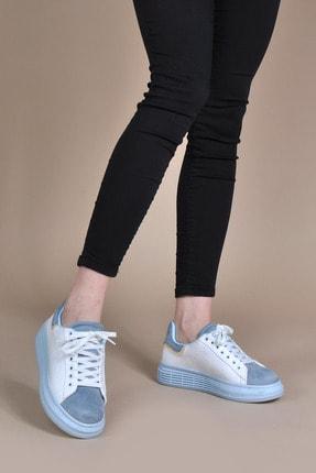 Kadın Beyaz-mavi Spor Ayakkabı Vzn20-073y 154634_Beyaz-Mavi