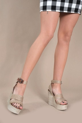 Kadın Hasır Sandalet Vzn20-094y 155387_Hasır