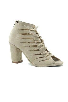 Kadın Ten Süet Topuklu Ayakkabı 2021 0205.2021