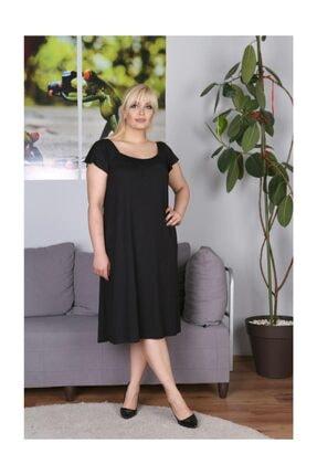 Siyah Ip Detaylı Elbise M-ELBİSE-SİYAH-76