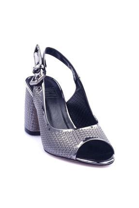 Platin Ayna Kadın Topuklu Ayakkabı 323-752-1147