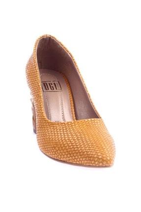 Hardal Hasır Kadın Topuklu Ayakkabı 1101-1609