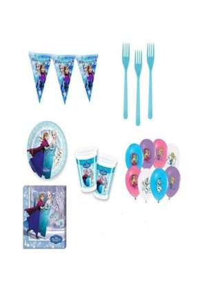 Frozen Karlar Ülkesi Elsa Doğum Günü Parti Malzemeleri Süsleri Seti 40 Kişilik 254167