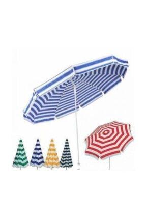 Mavi Beyaz Şemsiye Pamuklu Bidon Dahil şemsiye