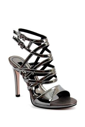 Kadın Siyah Ayna Topuklu Topuklu Ayakkabı KUM11408