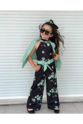 Kız Çocuk Siyah Tulum TLM1