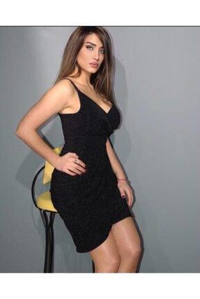 Kadın Siyah Gece Elbisesi 100000006127602