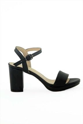 Kadın Siyah Cilt Platform Topuklu Ayakkabi DG2021100