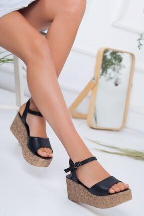 -dolgu Topuklu Ayakkabı-siyah SRB5240