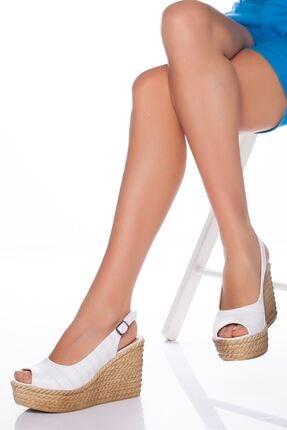 -dolgu Topuklu Ayakkabı-beyaz LZT0535