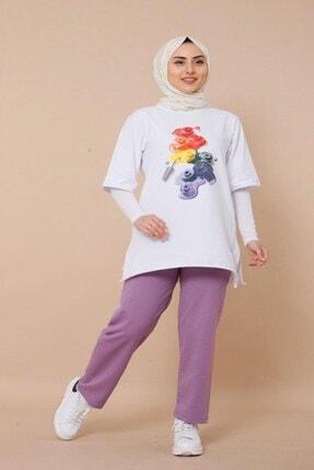 Kadın Lila Tunik T-shirt Takim DM(NSSA-26)-167