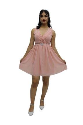 Kadın Pembe Kısa Elbise 1002202062