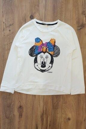 Kız Çocuk Beyaz Minnie Heyyo Kids Sweatshirt HYY276