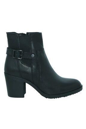 30100 Siyah Deri Formal Casual Kadın Bot Greyder 30100 Siyah