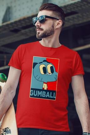 Erkek Kırmızı Gumball Tişört 820152